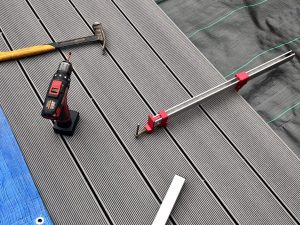 Composite decking for a low maintenance garden